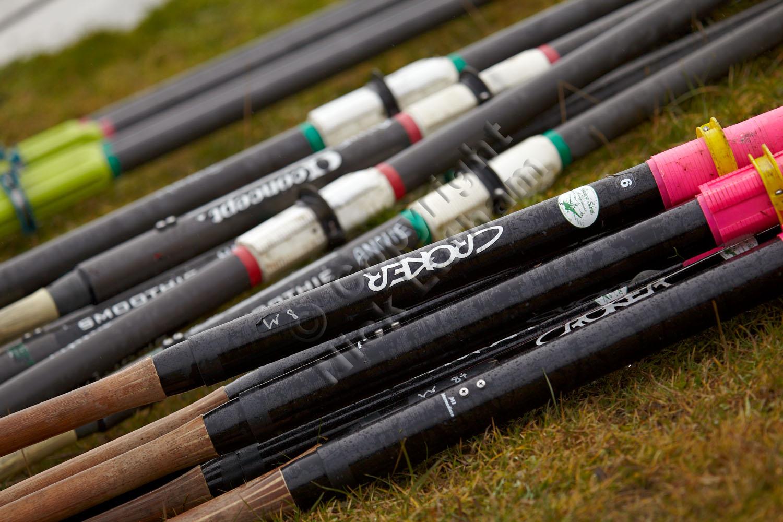 blades, oars, pile, slant, diagonal, colour, white, pink, green, rowing, equipment, sport
