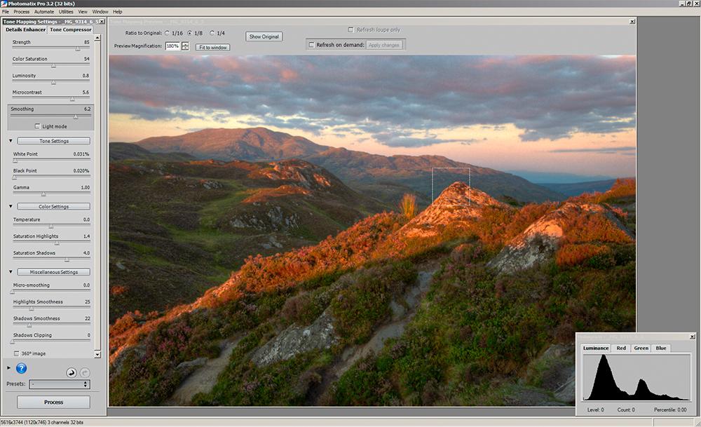 Photomatix tonemapping - details enhancer