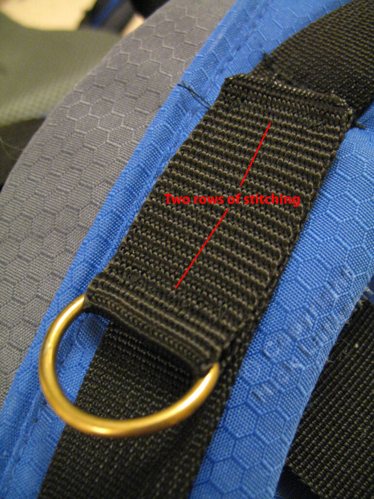 Clipping point - rucksack shoulder strap