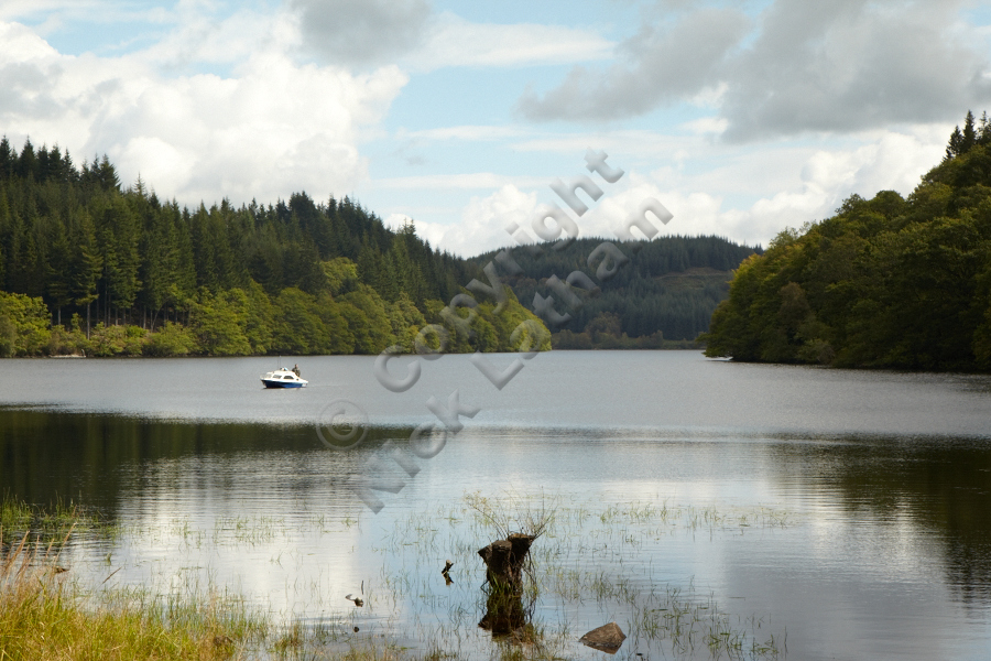 Fishing on Loch Drunkie