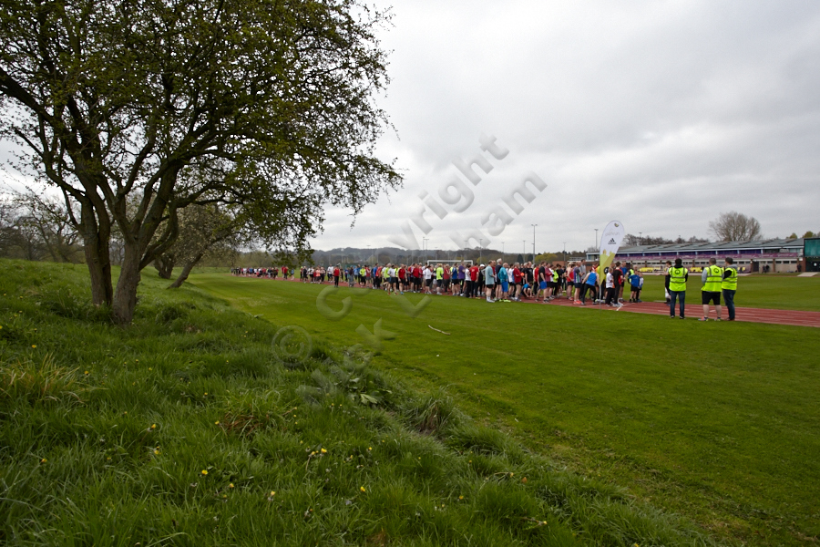 Durham parkrun: gathering for the start