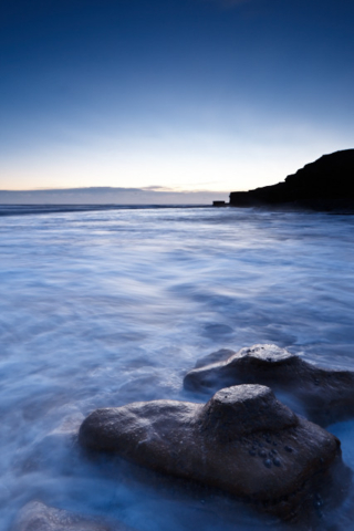 Dawn Wherry dawn North East Coast Beach Sunrise Rock Water Lee Filter Tripod Wave Sea Landscape Wide angle Canon 17-40 f4L Canon EOS 5D mk II Cliff ND grad Soft Hard movement power spray