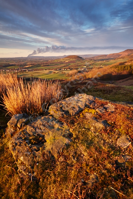 North Yorkshire moor fell rock landscape sunset gold golden view smoke cloud sky hill workshop Joe Cornish