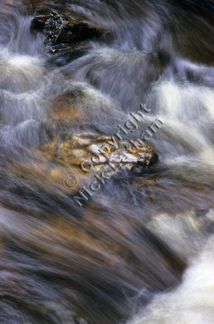 water flow river stream brook burn rock smooth rush peat brown erosion time