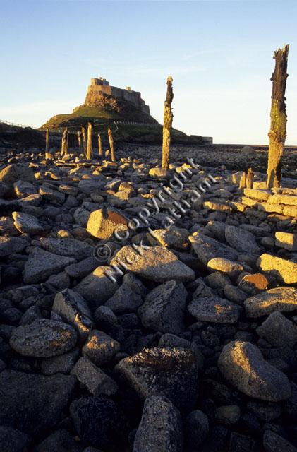 beach rock rocky post wood wooden island sun blue sky landscape