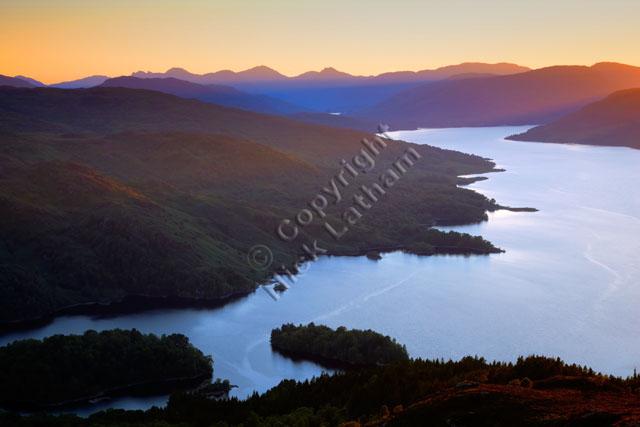 lake water sun hill mountain Scotland outdoor wild explore adventure