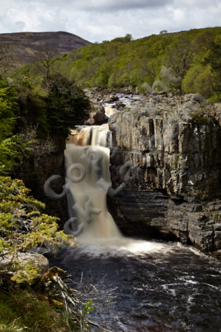 waterfall whin sill rock water flow sun tree outdoor explore adventure River Tees gorge