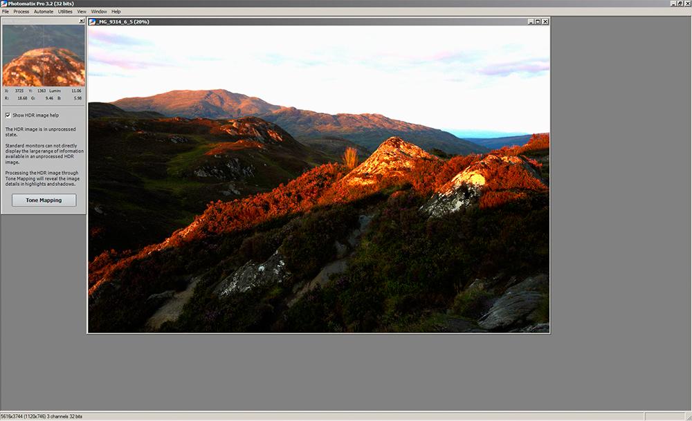 Photomatix combined images