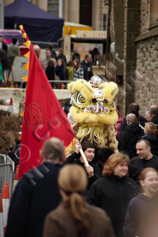 Chinese Lion Dance - procession through Durham