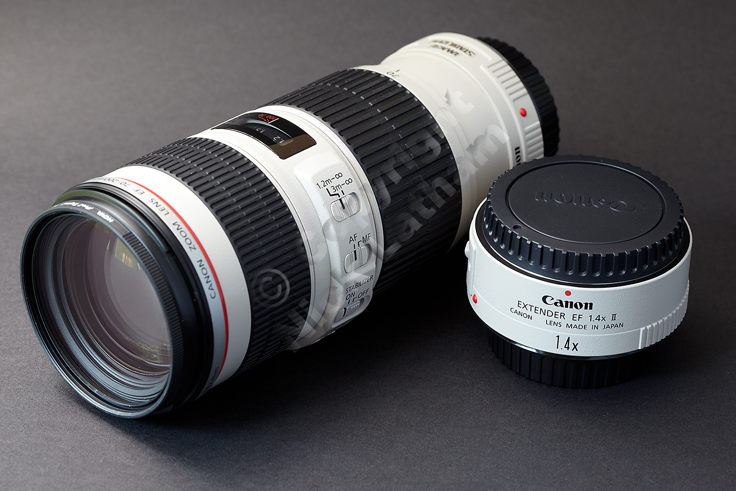 Canon 70-200mm f4 L IS lens and 1.4x II Extender