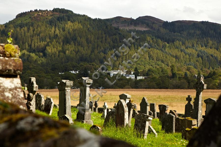 Aberfoyle beyond Kirkton Cemetery