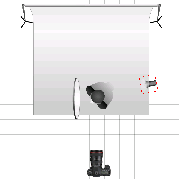 Headshot - initial lighting diagram